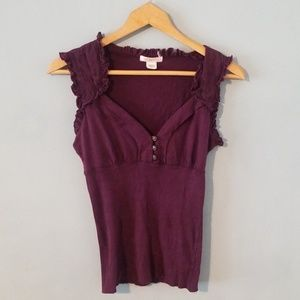 Lux plum colored top